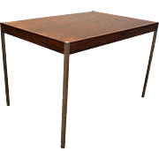 Mid Century Danish Modern Milo Baughman Rosewood/Chrome End Table