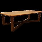 Mid Century Danish Modern Lane Walnut Coffee Table
