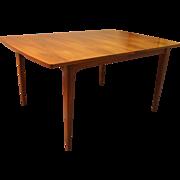 Mid-Century Danish Modern Kipp Stewart Solid Walnut Surfboard Dining Table
