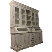 Large Painted Country French Bread Cupboard/Hutch