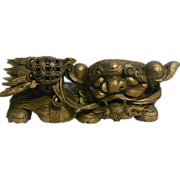 Vintage Gilt Painted Fo Dog Corbel from South China