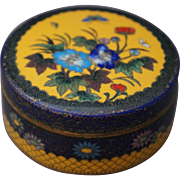 Vintage Japanese Cloisonne Box by Inaba