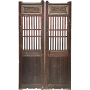 Pair of Antique Doors from a Chinese Village