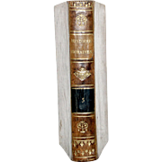 1813 ALL LEATHER FRENCH LANGUAGE BOOK 6 1/2 X4 1/4 IN. 1ST ED ...
