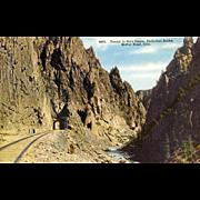 Early 1900's Post Card Railroad Tunnel in Gore Canon, Colorado,  Unused
