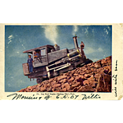 1907 Post Card Cog Road Railroad RR Engine Climbing of Pike's Peak