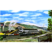 NYC New York Central RR Train Post Card from a Painting by Harold Fogg, noted ...