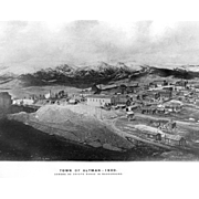 8X10 B&W Photo Printed from Original Negative ALTMAN, COLORADO, 1900