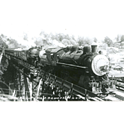 Railroad RR Southern Pacific Steam Engine 2 Engines Capitola, CA Photo.  RPPC, Unposted