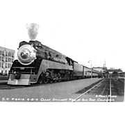 SOUTHERN PACIFIC RR Steam Engine Train Locomotive #4414 Photo  is 5 3/8 X 3 ...