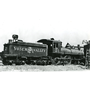 YOSEMITE VALLEY RR Steam Engine #21. Train Locomotive Photo is 5 3/8 X 3 ...