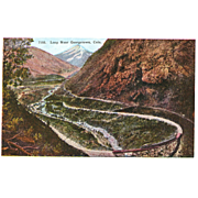 Postcard Colorado Georgetown RR Train Loop, Unposted, Sharp, Excellent Condition, 5 1/2 x 3 ..
