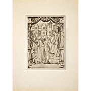 1886 Folio Photogravure After Hans Holbein CHRIST Pilate