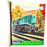 """""""NEW YORK CENTRAL SYSTEM ROAD TO THE FUTURE"""" Contains 66 Postcards of Howard Fogg Pa"""
