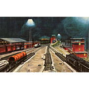 New York Central RR Train Post Card from a Painting by Harold Fogg, noted artist ...