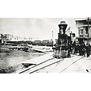 Lincoln Funeral Train in Philadelphia, April 1865 Pennsylvania  Railroad Locomotive Engine #33