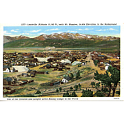 LEADVILLE, CO Town late 1800's.  Highest Elevation town in US at 10,140 ft ...