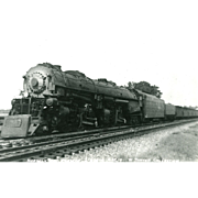 Norfolk and Western Railroad Locomotive Engine #1214 RPPC Excellent Condition