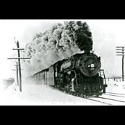 Norfolk & Western Railroad RR Steam Engine #126. Photo is 5 3/8 X 3 1 ...