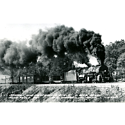 NORFOLK WESTERN RR Steam Engine #2142 Train Locomotive at Blue Ridge, VA  RPPC. Excellent Post