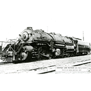 NORFOLK WESTERN RR Steam Engine #2160 Train Locomotive  RPPC. Excellent Post Card Unposted ...