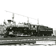 NORFOLK WESTERN RR Steam Engine #475 Train Locomotive  RPPC. Excellent Post Card Unposted ...