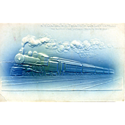 "Original Embossed PC NY Central RR Twentieth Century Express, ""The Fastest Long Distance"