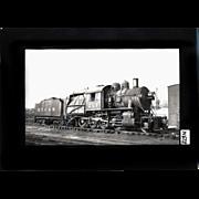 NYO&W RR Train Engine 213 and Tender B&W 3 1/2 x 6 ...
