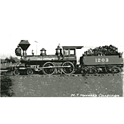 OREGON CALIFORNIA RR Steam Engine #1203. Train Locomotive Photo is 5 3/8 X 3 ...