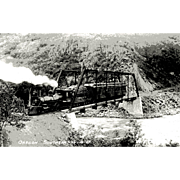 OREGON SOUTHERN RR Steam Engine Train Locomotive Photo is 5 3/8 X 3 1 ...
