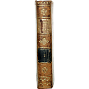 1813 All Leather French Language Book 6 1/2 X4 1/4 IN. First Edition ...