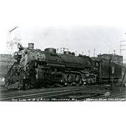 SOO LINE RR Steam Engine Locomotive at Milwaukee, WI.  Photo is 5 3/8 X ...