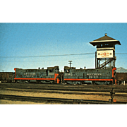 SOUTHERN PACIFIC RR 2 Diesel Locomotive Engines # 2146 & 2148 RPPC Excellent Condition, ...