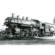 SOUTHERN PACIFIC RR Steam Locomotive Engine # 2384 RPPC Excellent Condition, Unposted