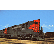 SOUTHERN PACIFIC RR Diesel Engine # 4302 RPPC Excellent Condition, Unposted