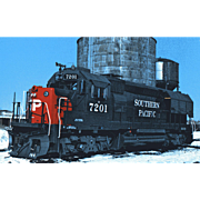 SOUTHERN PACIFIC RR Diesel Locomotive Engine # 7201 RPPC Excellent Condition, Unposted