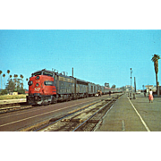 "SOUTHERN PACIFIC Diesel Engine #76, ""LARK"" at Glendale, CA. Photo is 5 3/8 X ..."
