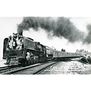 Railroad Original  RPPC Photo RR UNION PACIFIC Line Steam Locomotive #841. CHEYENNE, WY. ...
