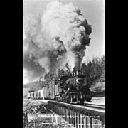 VIRGINIA BLUE RIDGE RR Steam Engine Locomotive at ROSE MILL, VA. Bridge. Photo is 5 ...