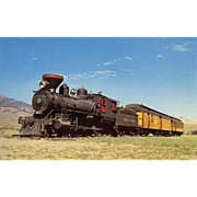 Virginia & Truckee Railroad RR Steam Engine Locomotive #27.  Displayed at Carson City, NV