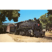 Virginia & Truckee Railroad RR Steam Engine #5. Photo is 5 3/8 X 3 1 ...