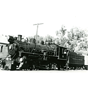VIRGINIA TRUCKEE RR Steam Engine #5 as shown at CARSON CITY, NV 1947. Excellent Unposted ...