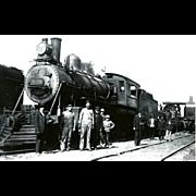 Virginia & Truckee Railroad RR Steam Engine #808. Photo is 5 3/8 X 3 1 ...