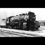 WESTERN PACIFIC RR Steam Locomotive #326 Train at Stockton, CA   PC Dimensions 5 1/2 ...