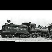 YOSEMITE VALLEY RR Steam Locomotive #21 Train.   PC Dimensions 5 1/2 x 3 1 ...
