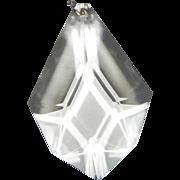 Larger Vintage Prism/s (6 avail) Clear Crystal Beveled Chandelier Candelabra Girandole Sconce