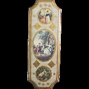 Romantic Italian Florentine Gilt Gold Wall Plaque Italy
