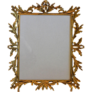 Ornate Ormolu Putti Cherub Bird Photo Picture Easel Frame