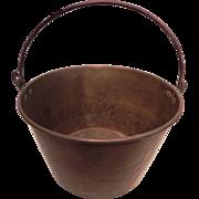 Antique Copper Cauldron Kettle Jam Candy Preserve Pot