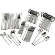 Stanley Roberts 109 pc ROYALTY Service for 12 PLUS Extras Stainless Steel Flatware Danish ...